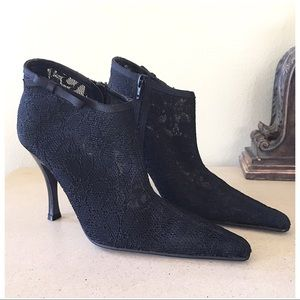 BEBE LACE ANKLE BOOTS